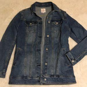 Lularoe M Jaxon Solid Denim Jacket